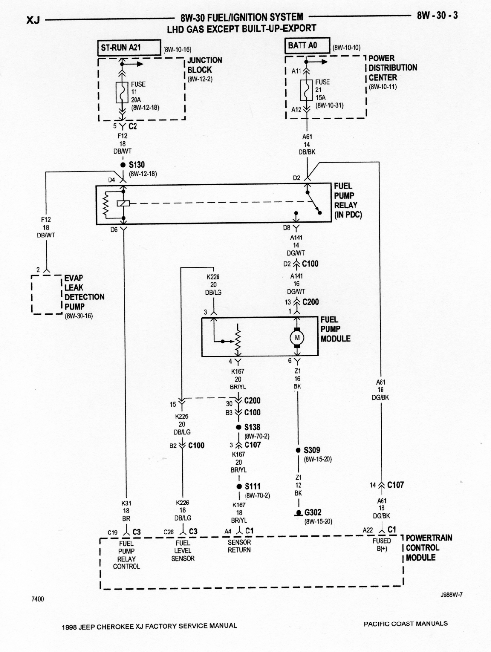 1998 Jeep Cherokee Fuel Pump Wiring Diagram Google Search 2011 Jeep Grand Cherokee Jeep Grand Cherokee Cooling Fan