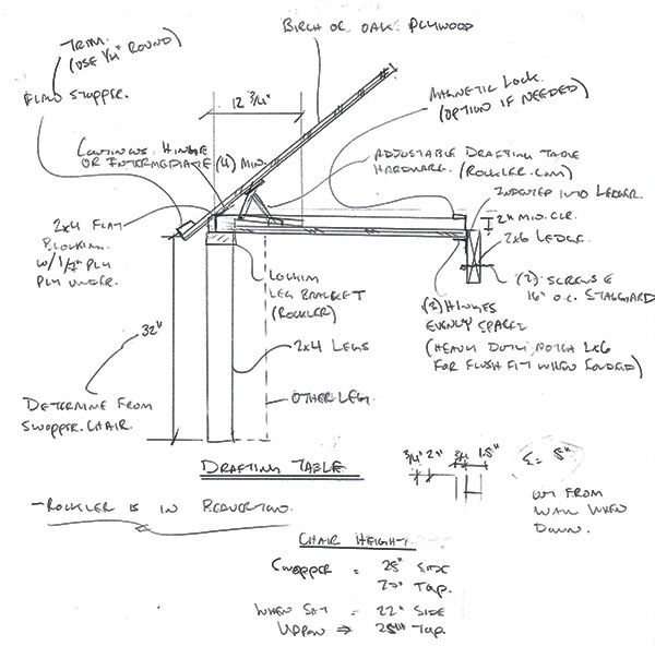 Wonderful Drafting Table Plans  WoodWorking Projects Amp Plans