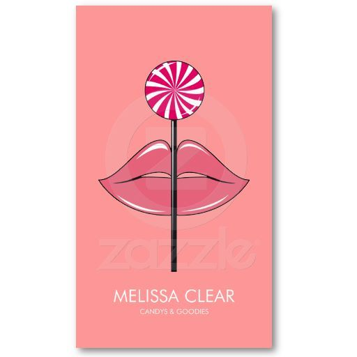 Lollipop lips pink business card template my zazzle designs lollipop lips pink business card template fbccfo Images
