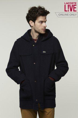 0ba2831b3bbd Lacoste L!VE Wool Duffle Coat   L!VE