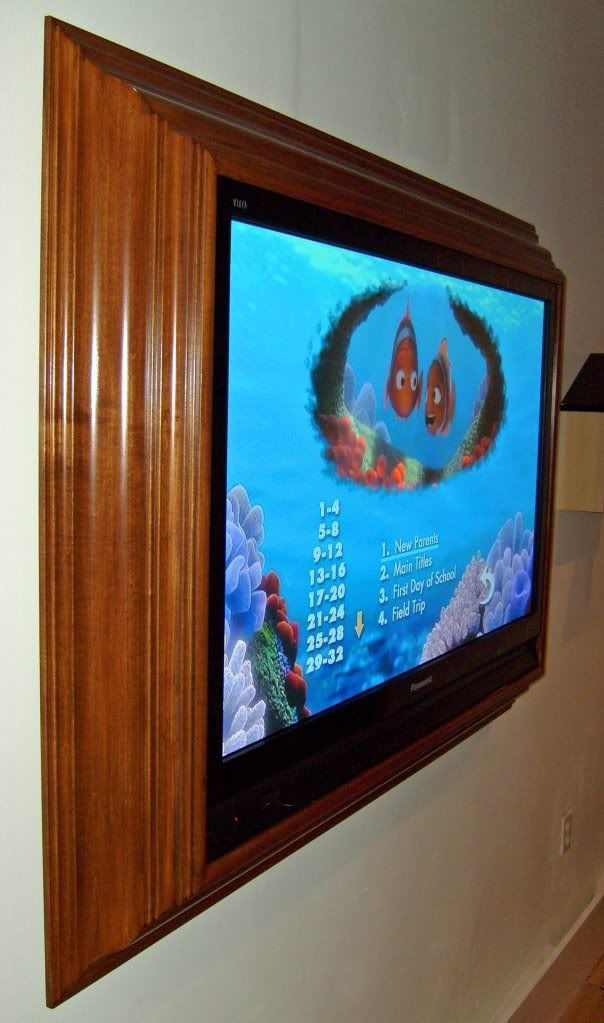 picture framing a lcd tv...saw something like this at Michaels where ...