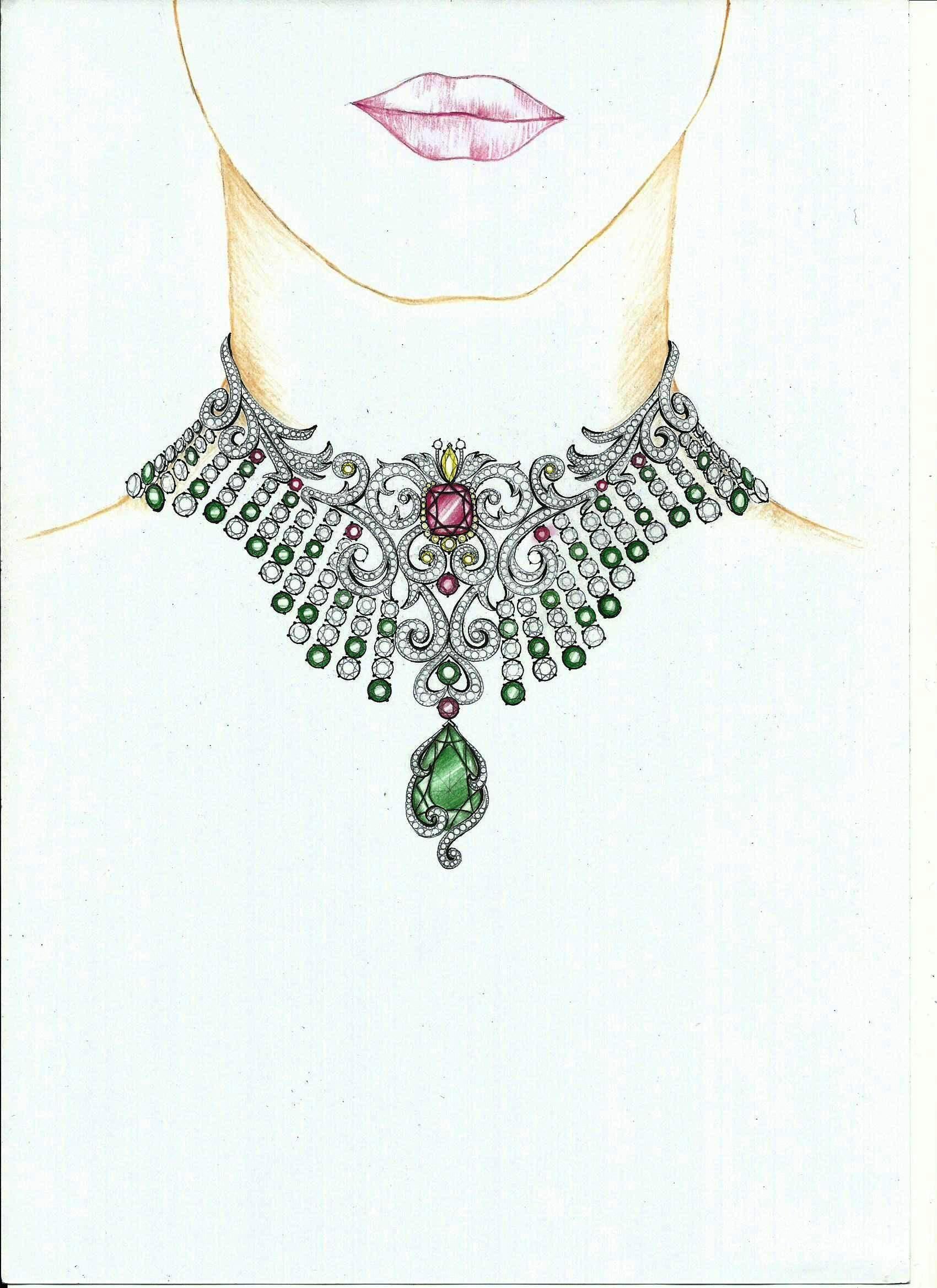 Liz Chow S Artwork Necklaces Rendering Jewellery