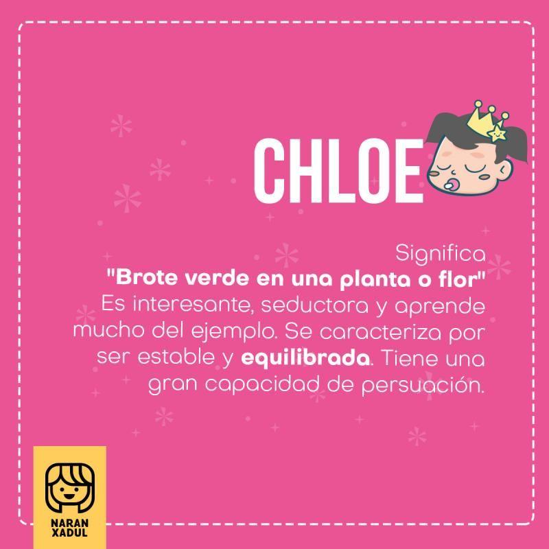 Chloe Chloe Nombre Significado Del Nombre Chloe Nombres Significado De Nombres Nombres Modernos Nombres De Niñas Significados De Los Nombres Nombres De Bebes