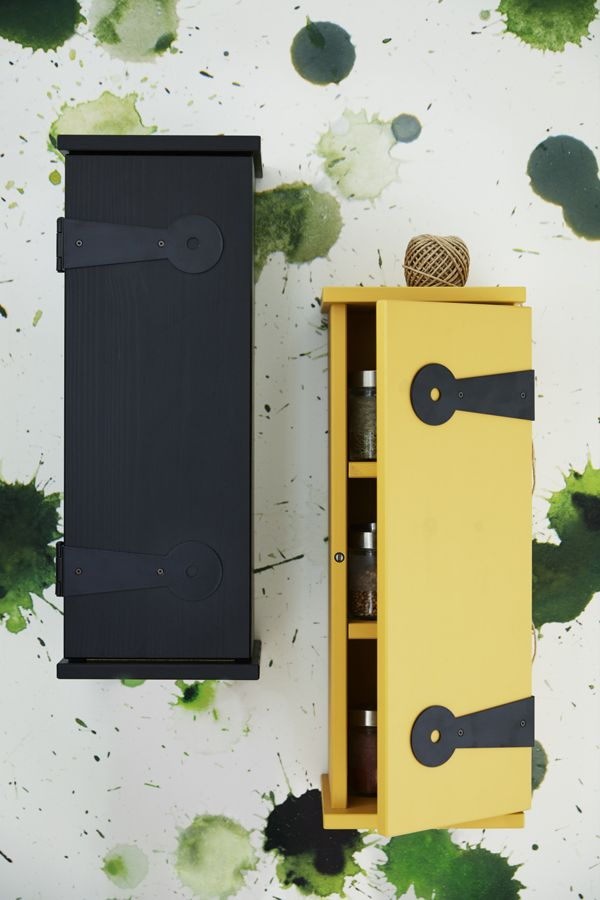 The wall cabinets in the new IKEA SÄLLSKAP limited collection ...