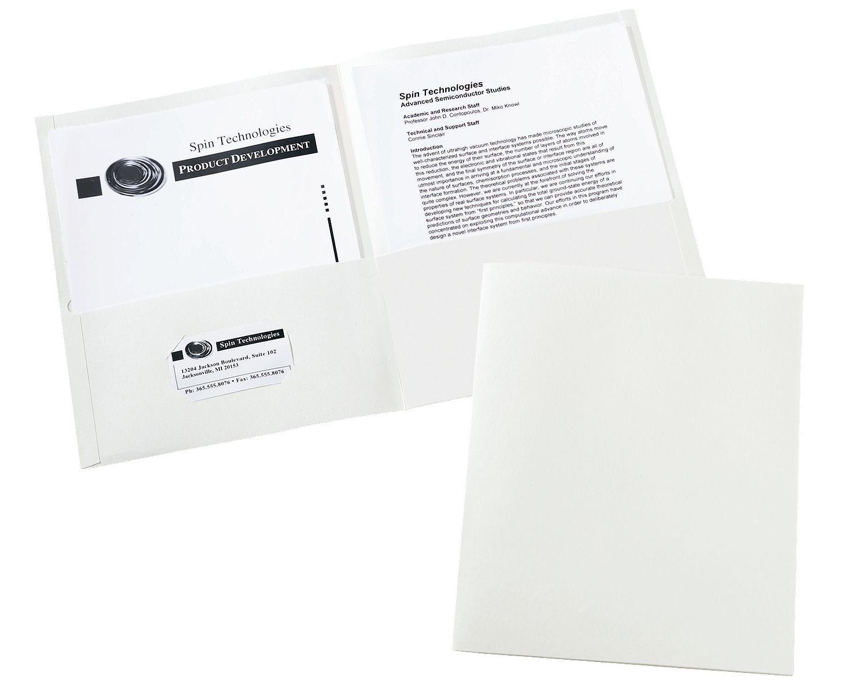 Avery Two-Pocket Folders, White, Box of 25 (47991) | doula ...