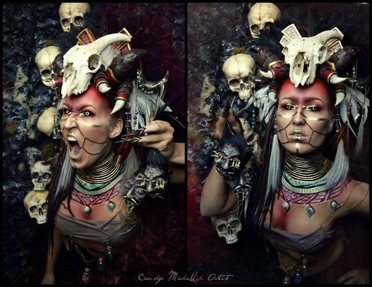 female witch doctor makeup   google search halloween