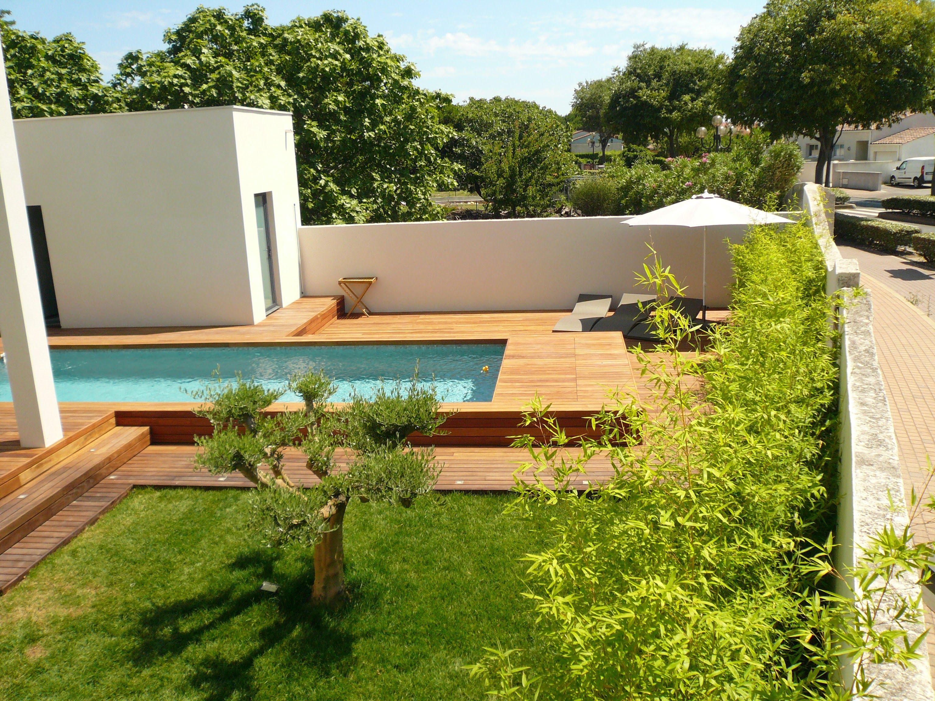 Terrasse De Piscine Ipe Visserie Cachee Margelle Integree Avec