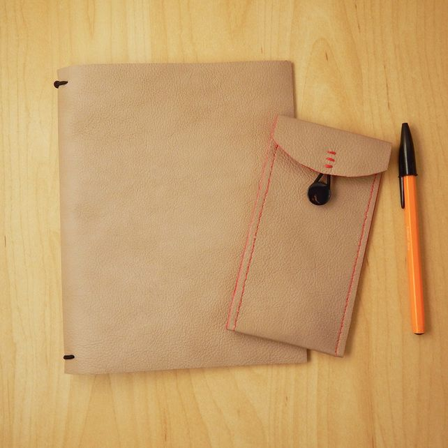 leather travel journal and pencil case set fauxdori travel