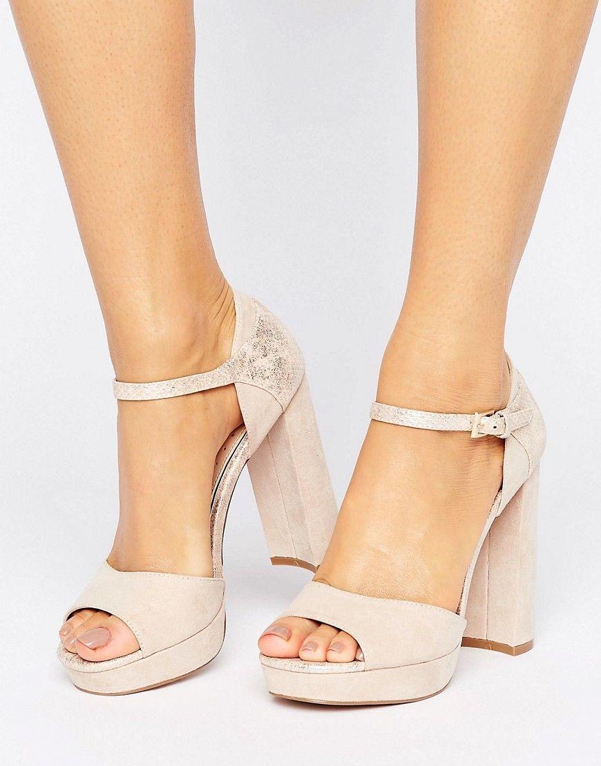Cassandra Silver Low Heel Sandals from Miss KG   Silver