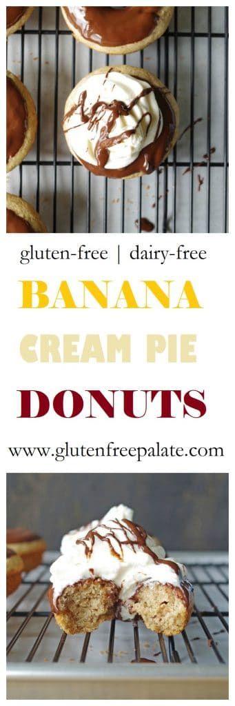 Gluten-Free Banana Cream Pie Donuts #bananapie