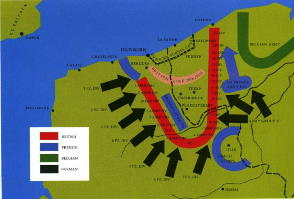 Map Of France Dunkirk.Pin By Luanne Rice On Wwii England And France Dunkirk Evacuation