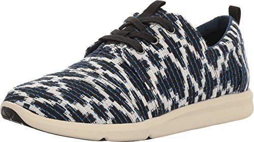LIGHTBACK TOMS Women's Del Rey Sneaker Navy Tribal Jacquard Oxford