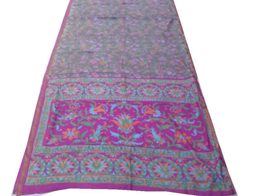 Photo of 100% Pure Silk Saree, 5 Yard Women's Decorative Traditional Pure Silk Sari, Wedding party sari, Indian vintage saree #PSTIC 256