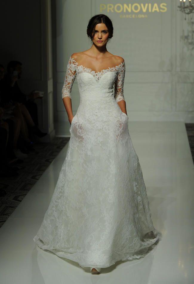 Pronovias\'s Fall 2016 Wedding Dress Collection Is Sheer Romance ...