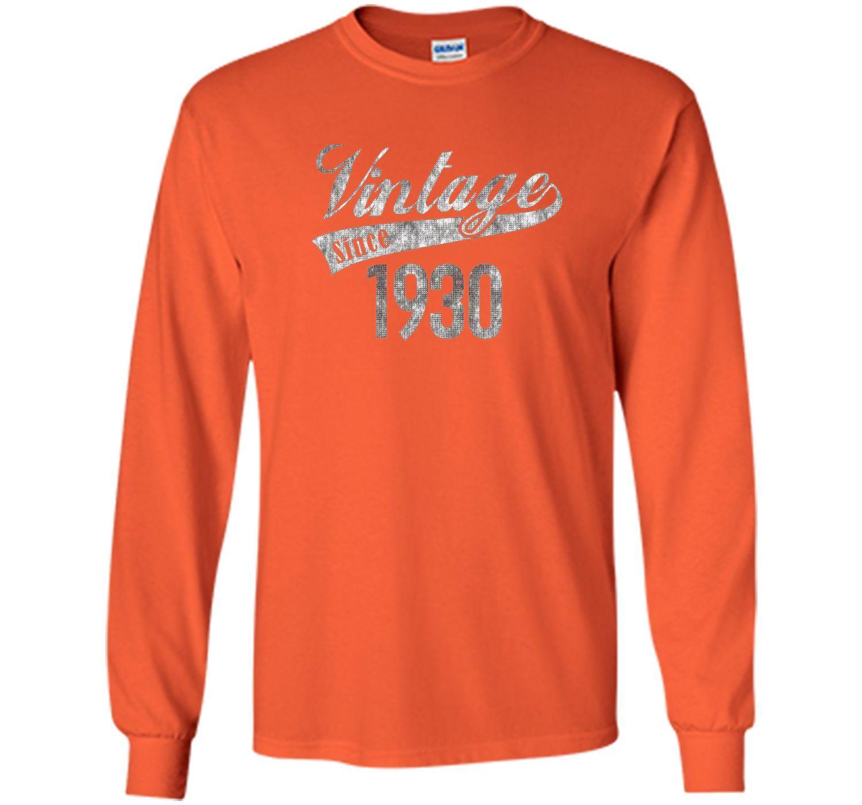 Vintage Since 1930 Birthday Gift T-shirt For Women Men