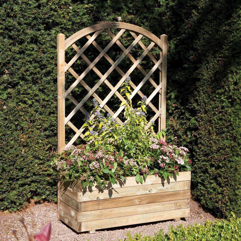 Rowlinson Rectangular Planter with Lattice - Dobbies Garden Centres ...
