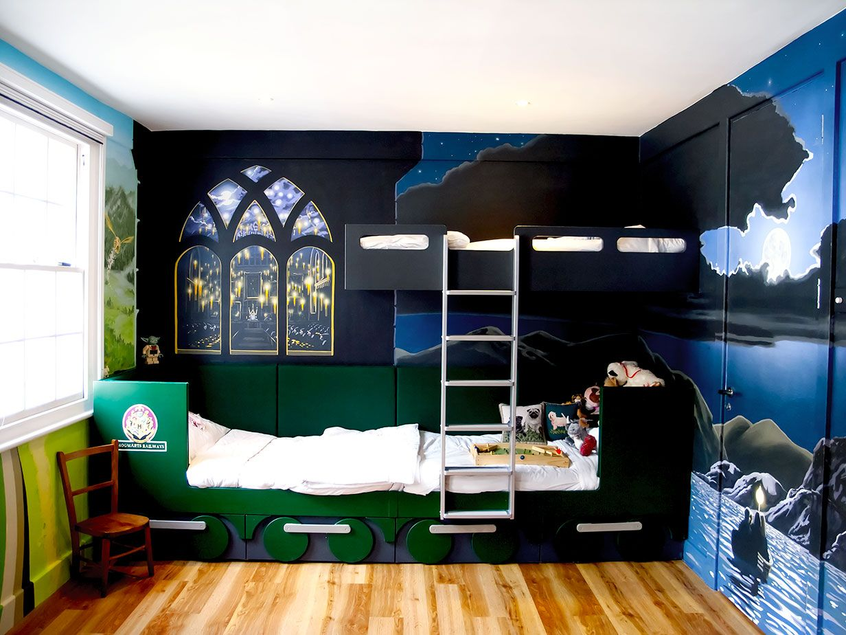 Harry Potter Wall Mural Hogwarts Express Fitted Bunk Beds Pictures