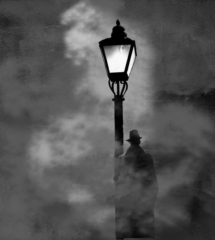 Mid-night under the Lamp lurks the Shadow of a Man