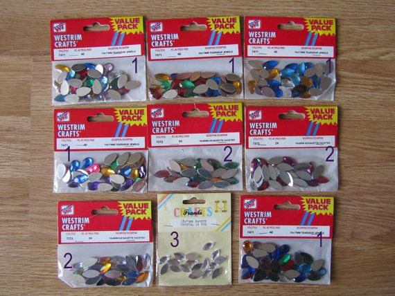 New Westrim Crafts Value Pack 10 x17mm & 18 x 18 by OnceInLifetime