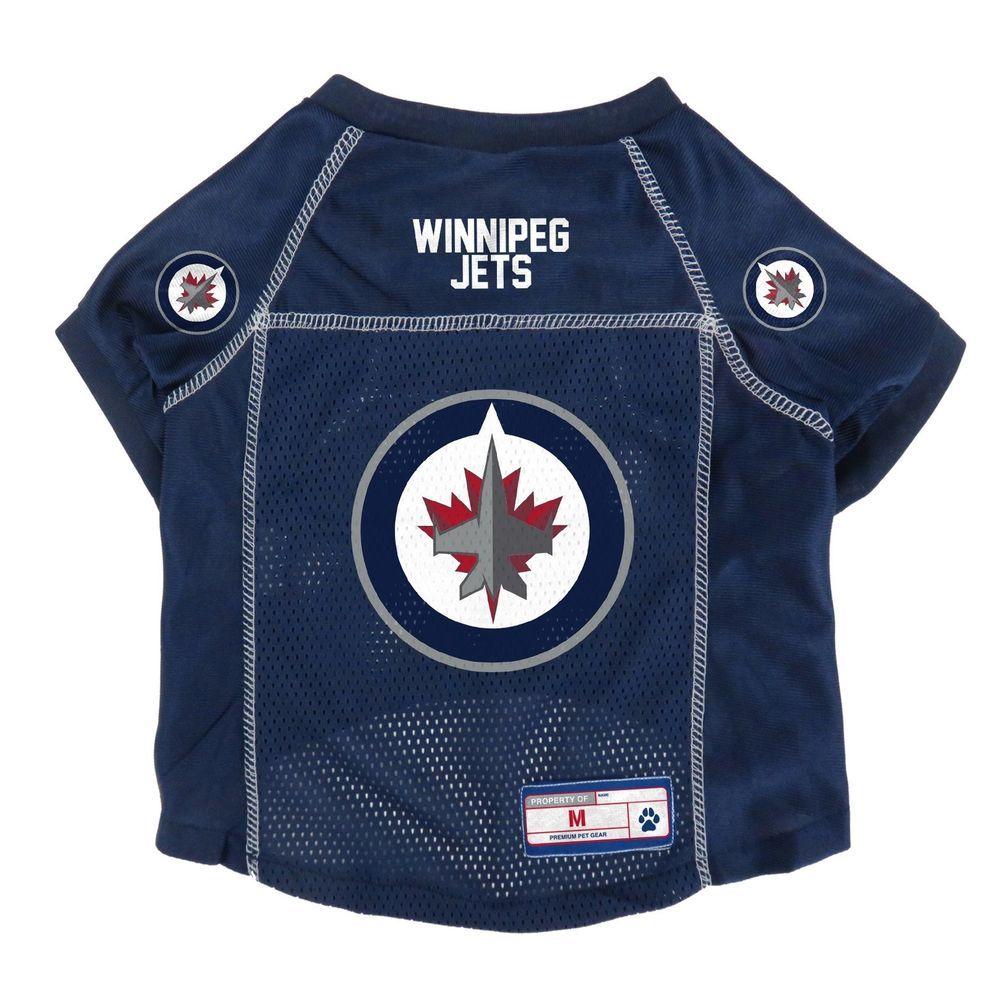 Icymi New Winnipeg Jets Dog Pet Premium Jersey W Name Tag Le