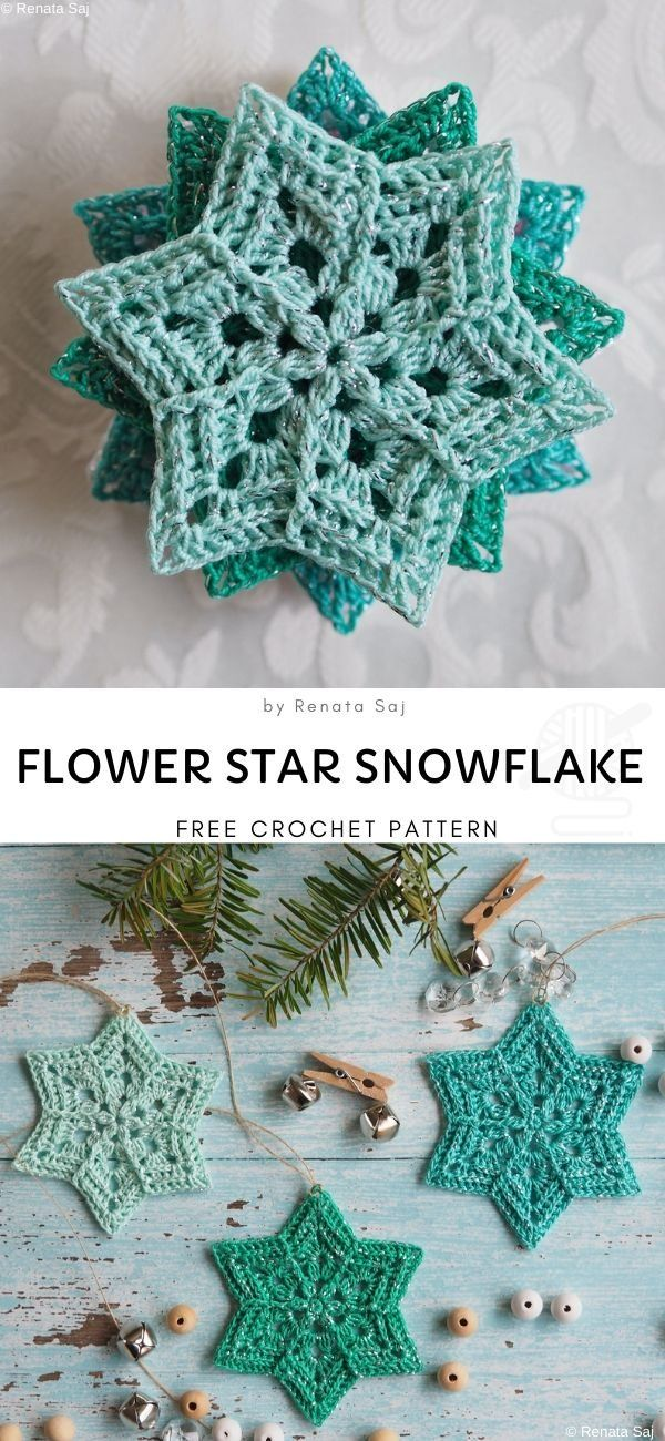 Snowflakes Crochet Decorations for Winter #crochethooks