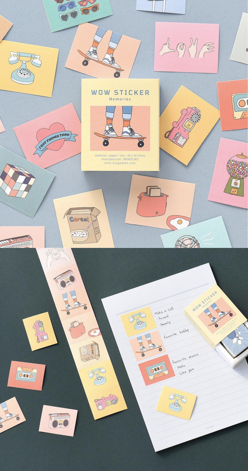 22 WOW SCRAPBOOKING STICKER | Stickers for Planner