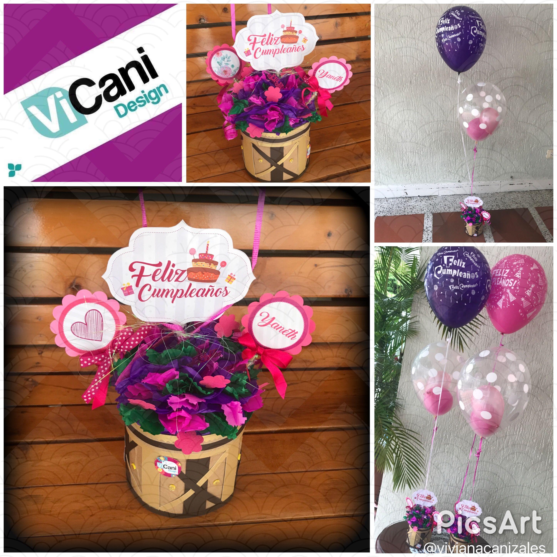 Centro de mesa Cumpleaños #ViCani_Design @ViCani_Design
