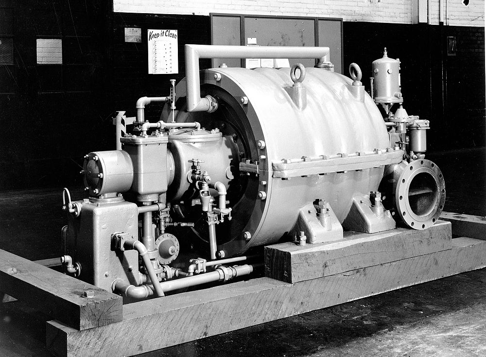 A Carrier centrifugal refrigeration compressor made in