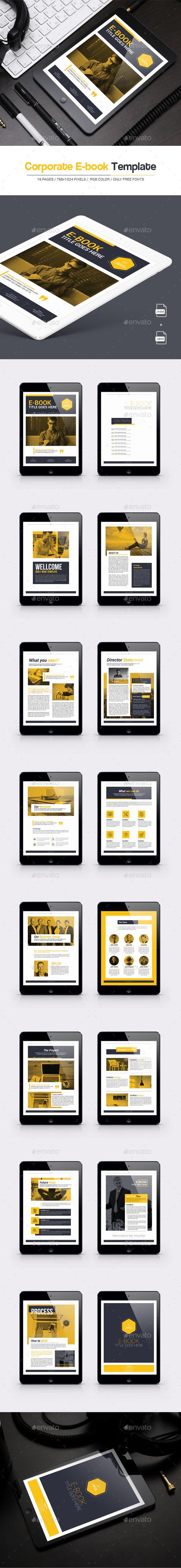 Corporate E Book Digital Books Epublishing Download Here Https Graphicriver Net Item Corporate Ebook 19694346 Ref Alena994 E Book Ebook Template Books