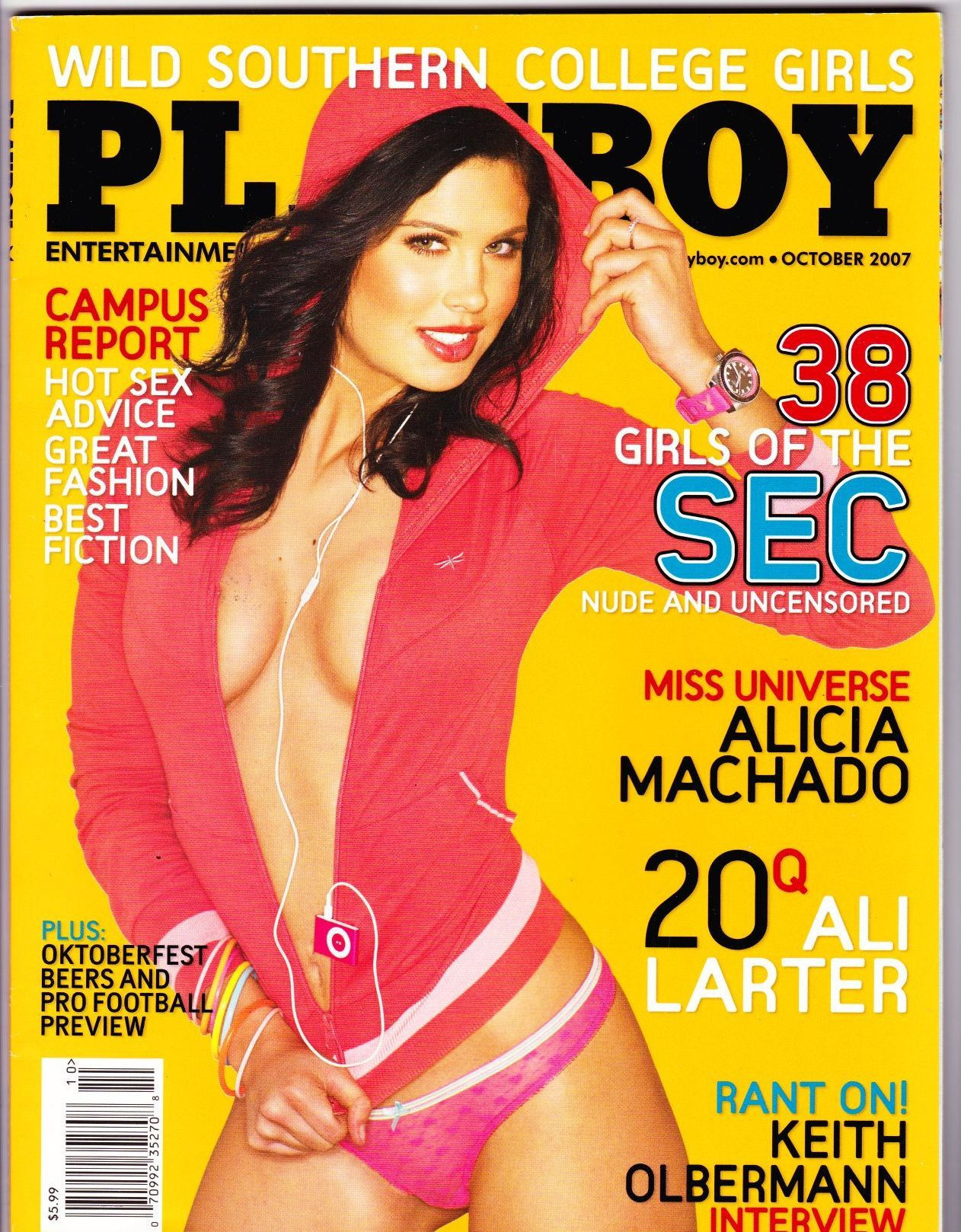 Playboy Magazine October 2007 With Scott Free Keith Olbermann