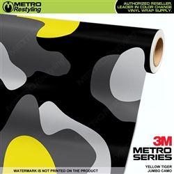 Jumbo Yellow Tiger Camouflage Metro Wrap Metro Restyling Vinyl Wrap Car Camouflage Camo Wraps