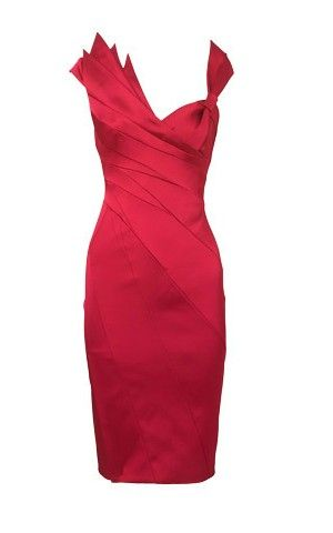 Karen Millen Folded Cocktail Dress Red I Think Im Going To Use