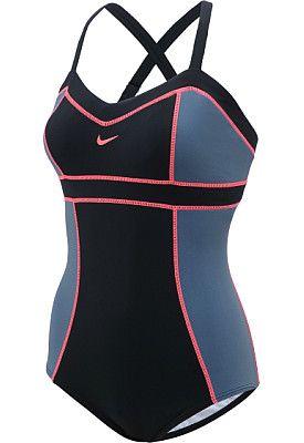 958719a6e69b4f NIKE Women's Adjustable Sweet-Block Tank One-Piece Swimsuit Shoe Sale, Cute  Swimsuits