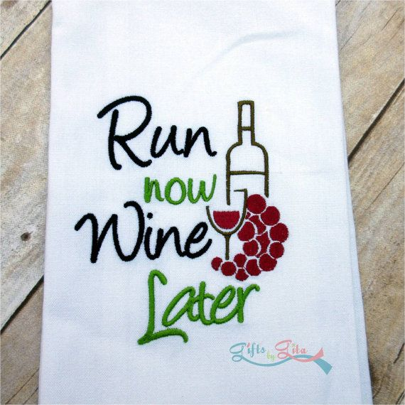 Super Cute Wine Towels Embroidered With Funny Wine Sayings