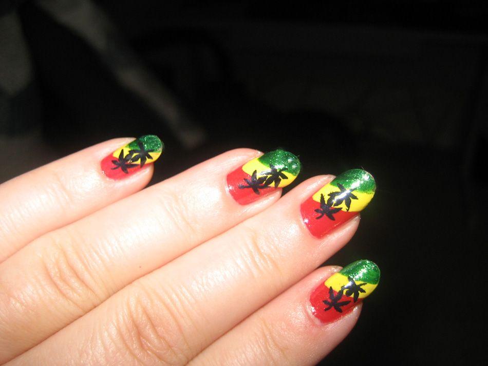 Dazzling reggae nail art | Nail It UP!!! | Pinterest | Reggae ...