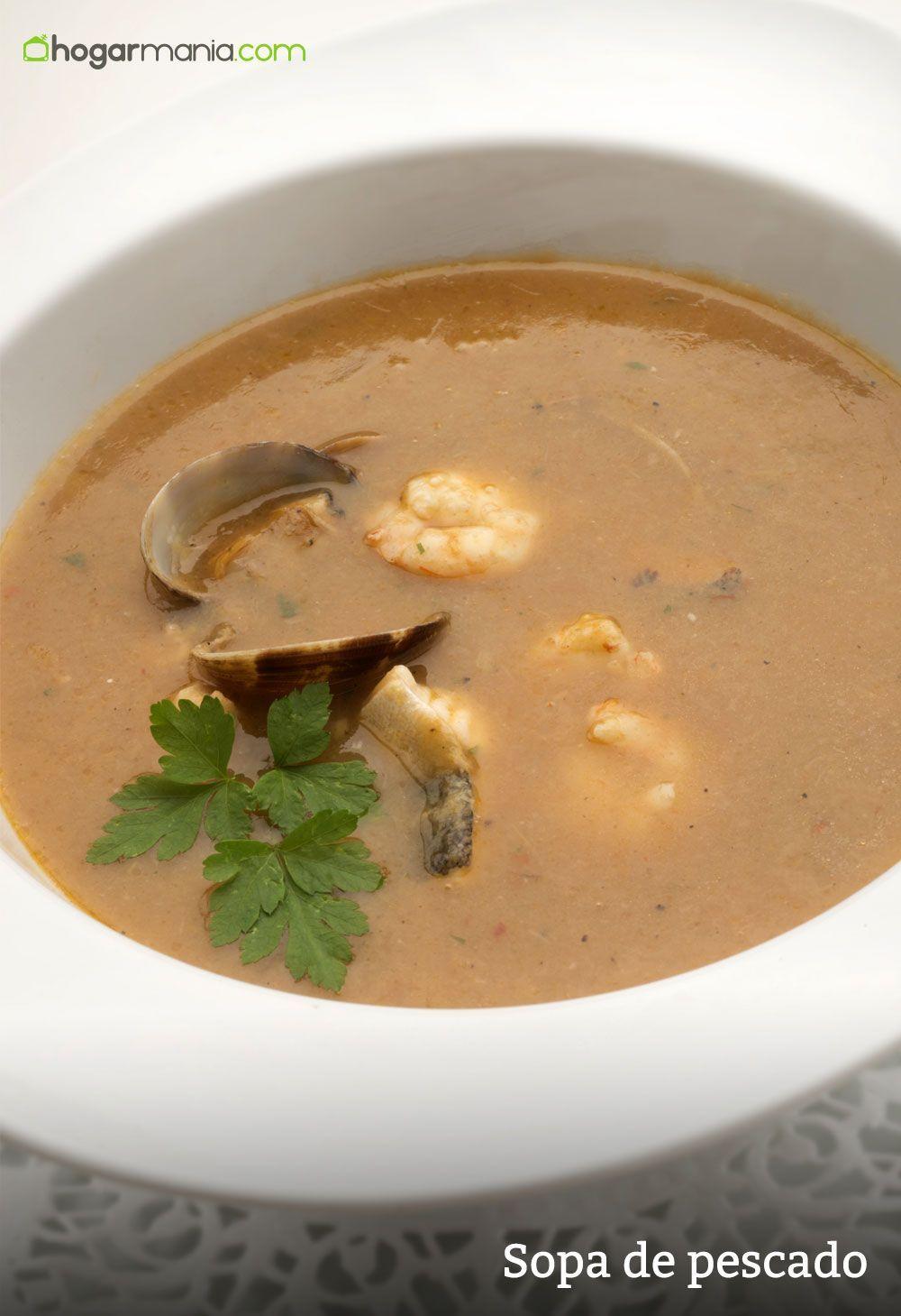 Sopa De Pescado Y Marisco De Karlos Arguiñano Receta Recetas De Sopa Recetas De Sopa De Pescado Pescados Y Mariscos