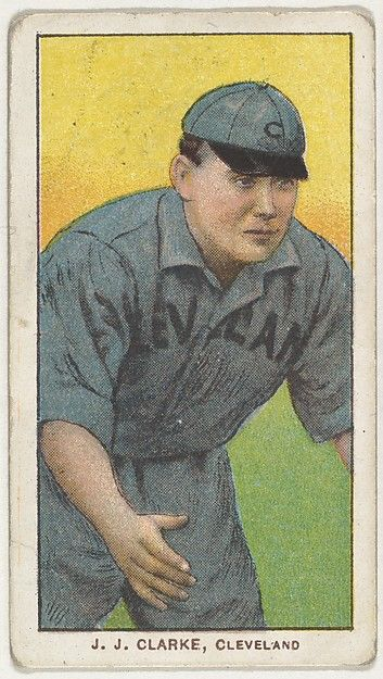 J.J. Clarke, Cleveland, from the White Border series (T206) for the American Tobacco Company
