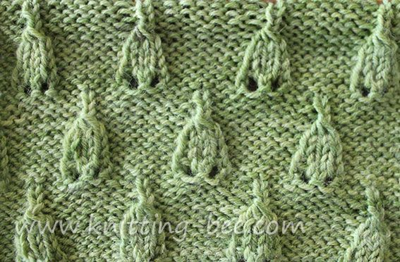 Knitting Stitches Abbreviations : Simple eyelet bell stitch knitting pattern abbreviations k