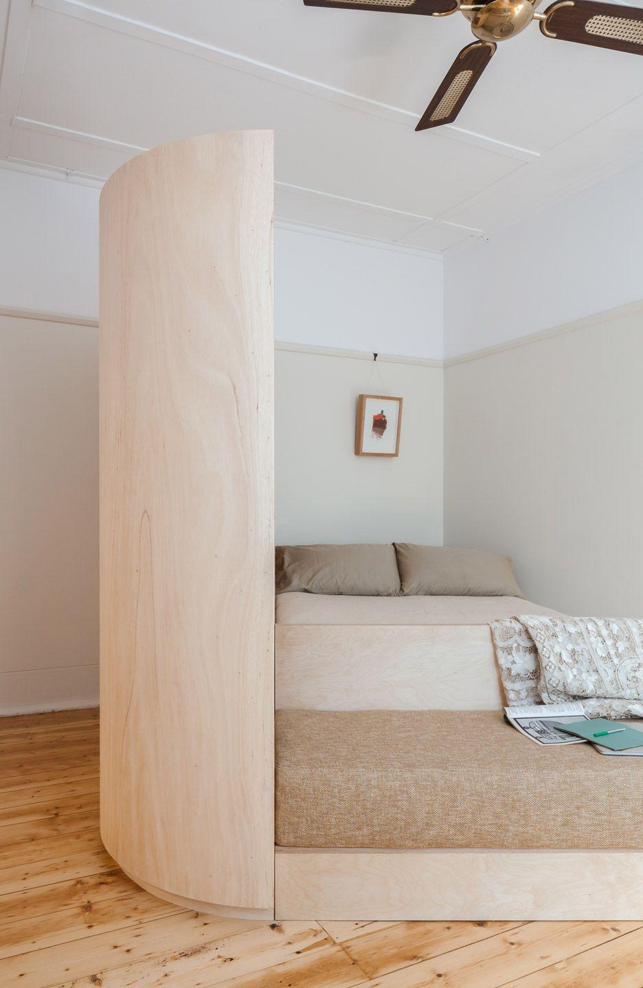 All In One Storage Unit Creates Cozy Nook In Adorable Australia Flat Apartment Renovation Furniture Design Home Decor