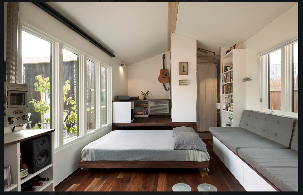 Hideaway Bed And Lifted Living Room