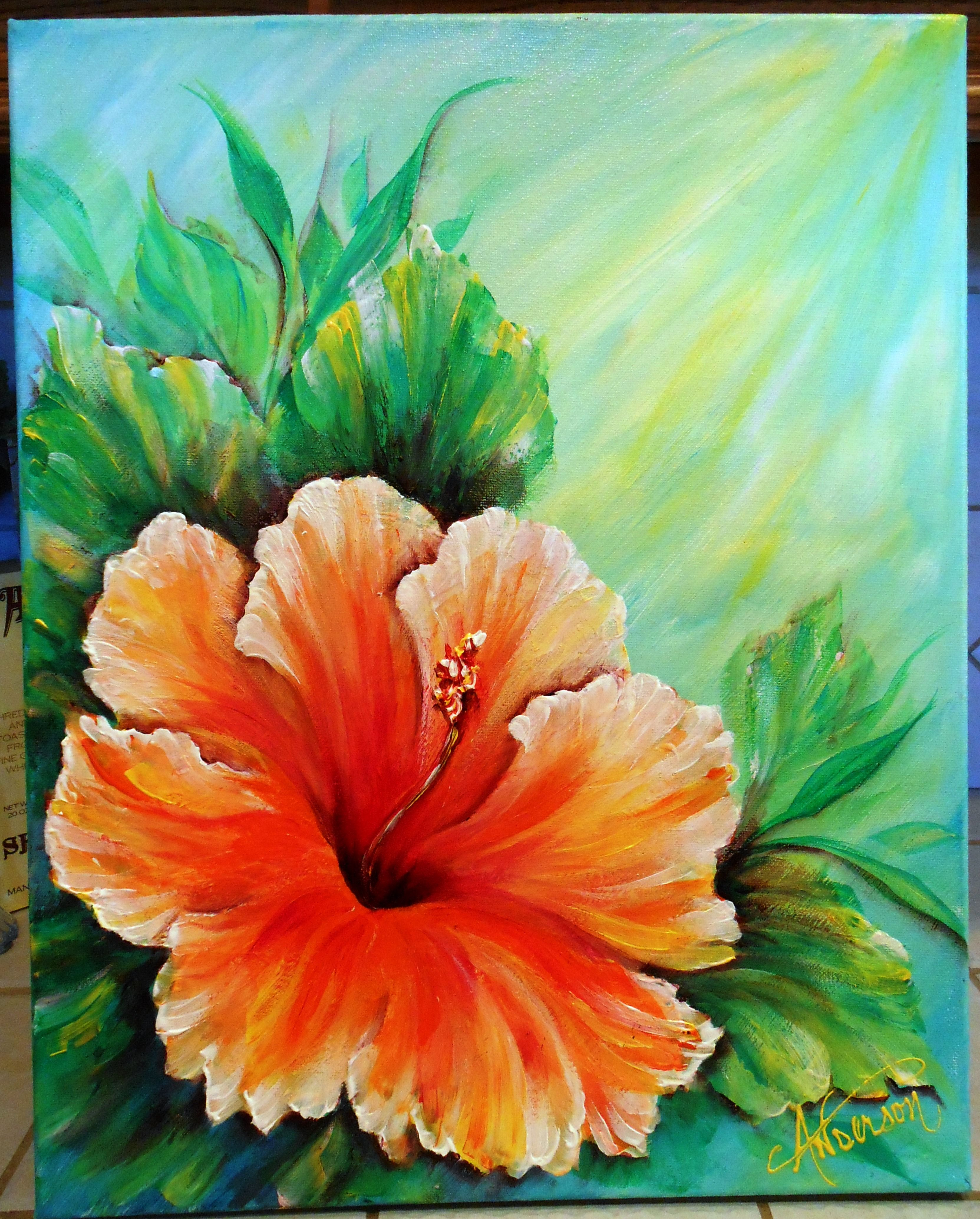 Hawaiin Hibiscus C Angela Anderson With Images Flower