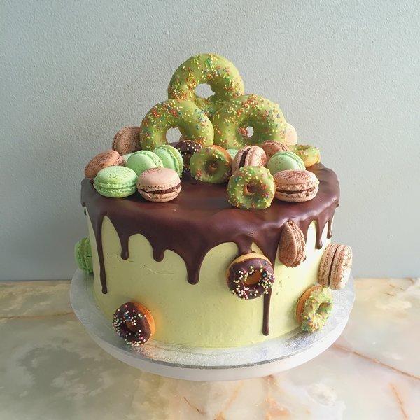 Matcha Green Tea Birthday Cake