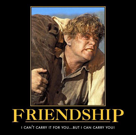 frodo and sam friendship by awesomenessdk on deviantart