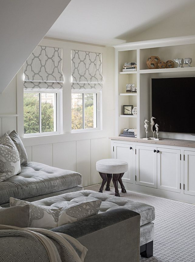 """Moulding atop the crossing shelf, notice also the pattern on the lower cabinets and contrasting """"counter"""" top"""