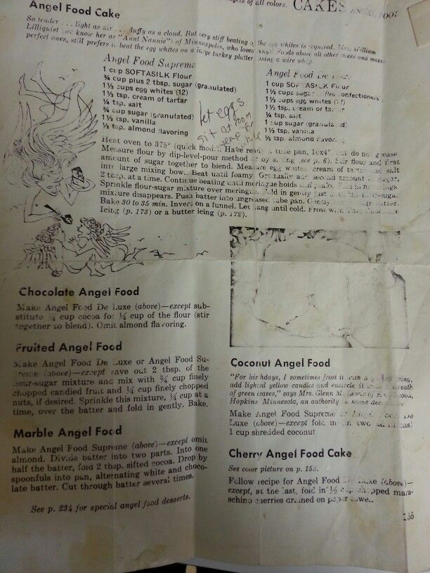 Angel food cake recipe my family has used forever!