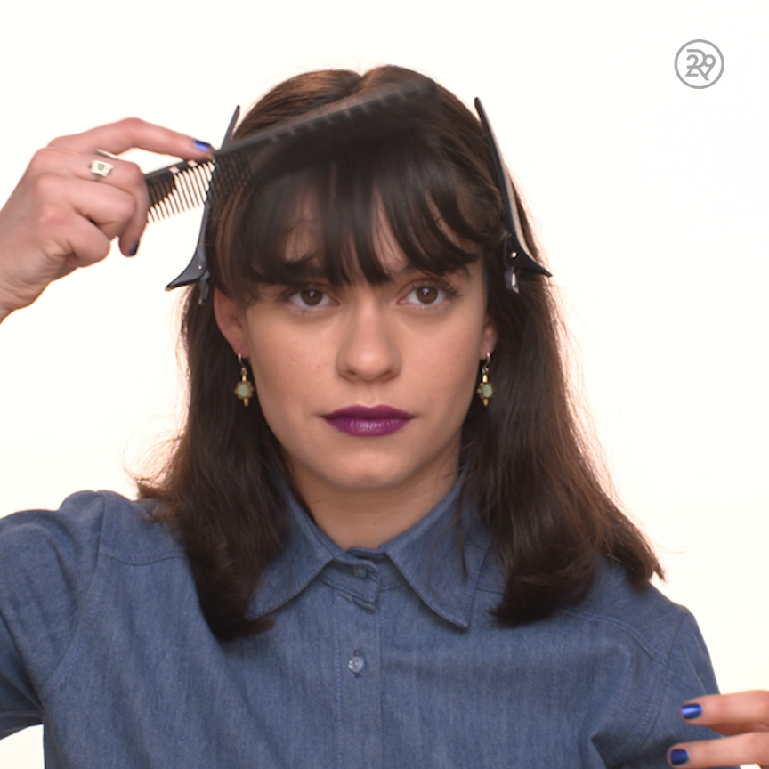 how to cut your own bangs easy