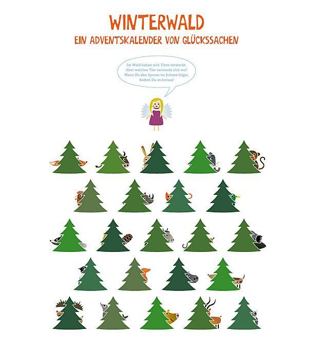 adventskalender winterwald ist gleichzeitig ein lern. Black Bedroom Furniture Sets. Home Design Ideas
