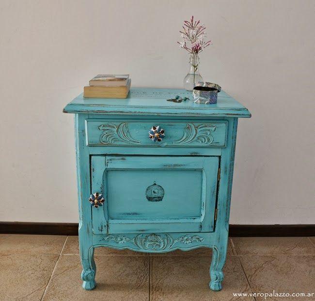 Mesa ratona turquesa tallada | DECORACION | Pinterest | Turquesa ...