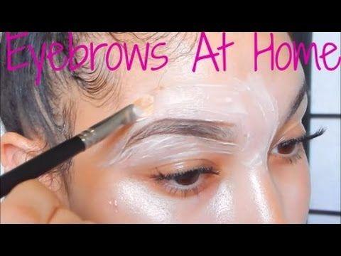 Eyebrow Tutorial | Nair (FACE CREAM) Hair Removal ( Audio issues )