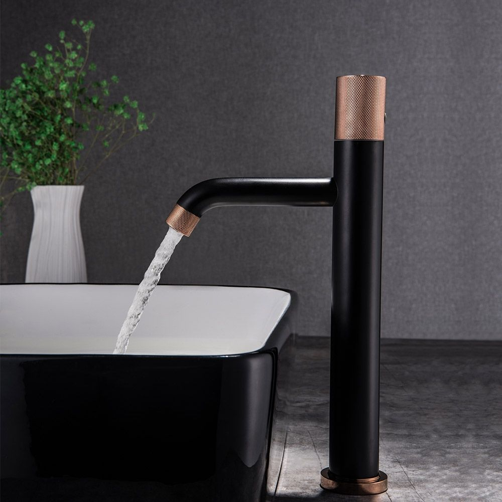Asow Classic Single Handle One Hole Brass Bathroom Vessel Sink Faucet In Matte Black Rose Gold Vessel Sink Bathroom Sink Faucets Vessel Sink Faucet
